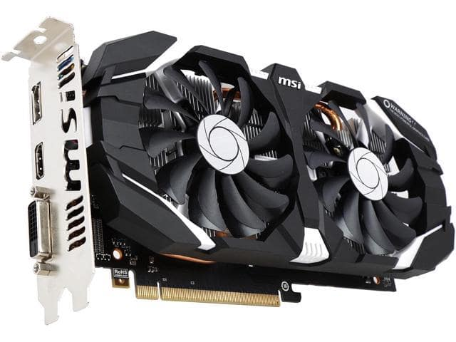 MSI GeForce GTX 1060 3GT OC Video Card $170AR @Newegg