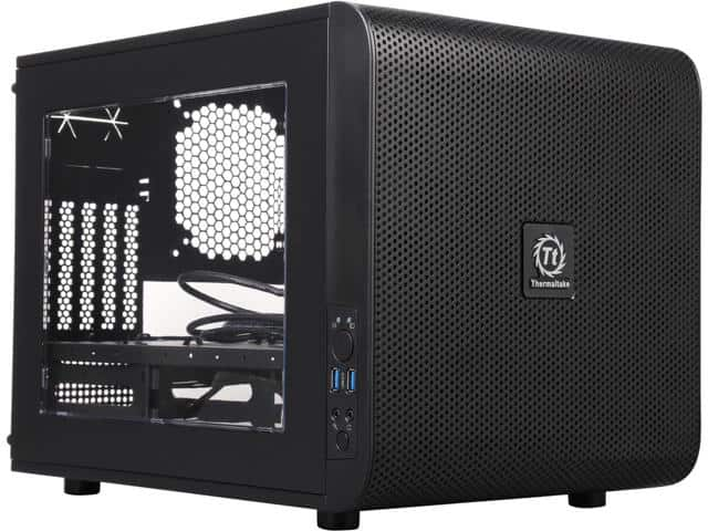 Thermaltake Core V21 Black Extreme Micro ATX Cube Chassis $35AR@Newegg