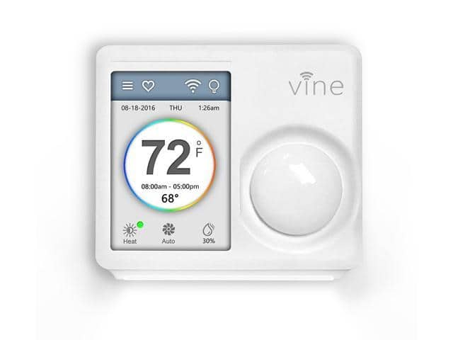 Vine Smart WiFi Thermostat with 7-Day Programming, Touchscreen and Nightlight + $10 NE Promotional Gift Card  $69.95