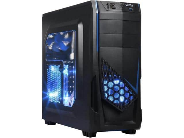 DIYPC Ranger-R5-B Black USB 3.0 ATX Mid Tower Gaming Case $20AR@Newegg