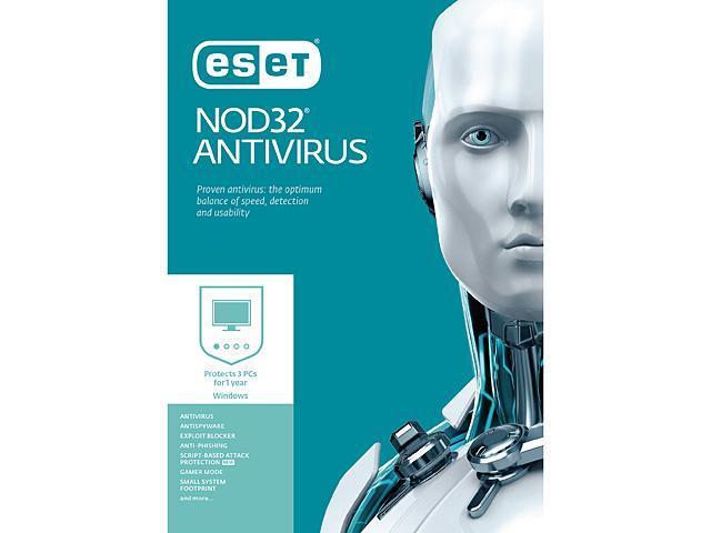 ESET NOD32 AntiVirus 3 PCs $15 AC