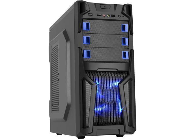 DIYPC Solo-T1-BK Black USB 3.0 ATX Mid Tower Gaming Case $18AR w/FS