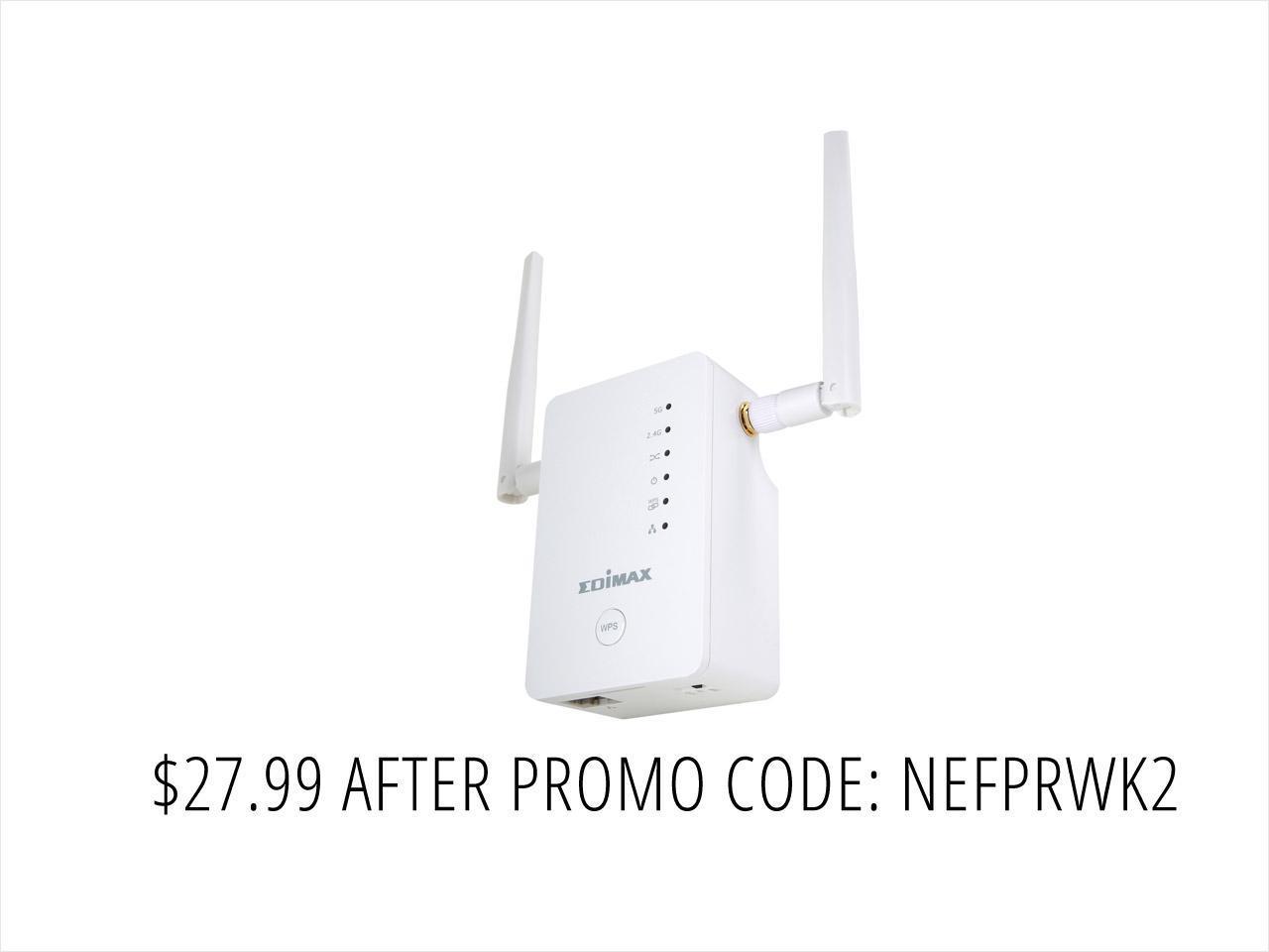 Edimax EW-7478AC AC1200 Wifi Range Extender/AP/Bridge $28AC @NF