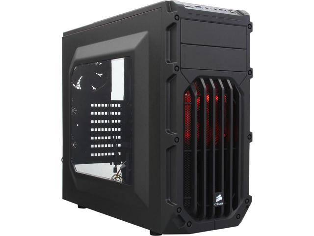 Corsair Carbide Series SPEC-03 Black Steel ATX Mid Tower Gaming Case with Red LED Fans.$32AC @Newegg