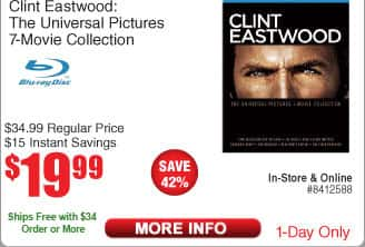 Clint Eastwood: The Universal Pictures 7-Movie Collection $20@Frys