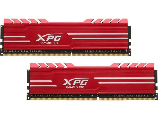 16GB (2 x 8) ADATA XPG GAMMIX D10 288-Pin DDR4 3000 Desktop SDRAM Memory AX4U300038G16-DRG $150AC