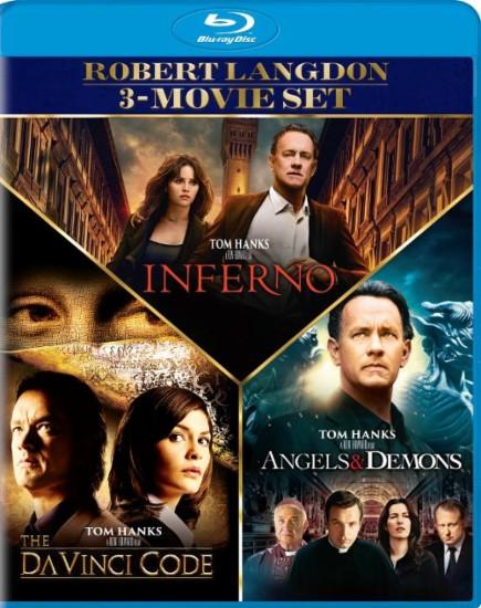 Angels and Demons/The Da Vinci Code/Inferno [Blu-ray] [3 Discs] Robert Langdon 3-Movie Set $15@BestBuy