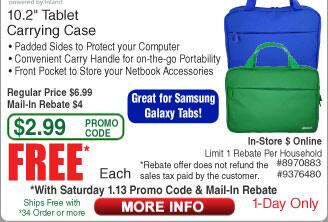 """Inland 10.2"""" Tablet Carrying Case Free after Rebate (1/13) @Frys"""