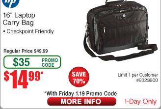 "HP Evolution 16"" Checkpoint Friendly Case $15AC@Frys"