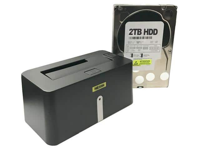 NEXIN NEX-DS1U3 USB 3.0 Hard Drive Docking Station + 2TB WL Hard Drive $50 @goHadDrive (via Newegg)