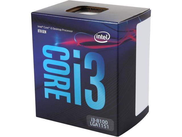 Intel Core i3-8100 Coffee Lake Quad Core CPU $120AC@Newegg