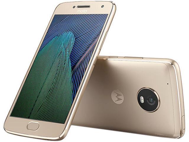 Moto G5 Plus XT1687 32GB Smartphone (Unlocked, Fine Gold) $185AC@Newegg