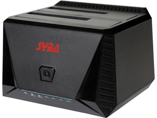 SYBA USB 3.0 UASP Dual Bay Hard Drive Docking Station / Duplicator SY-ENC50071 $15AC