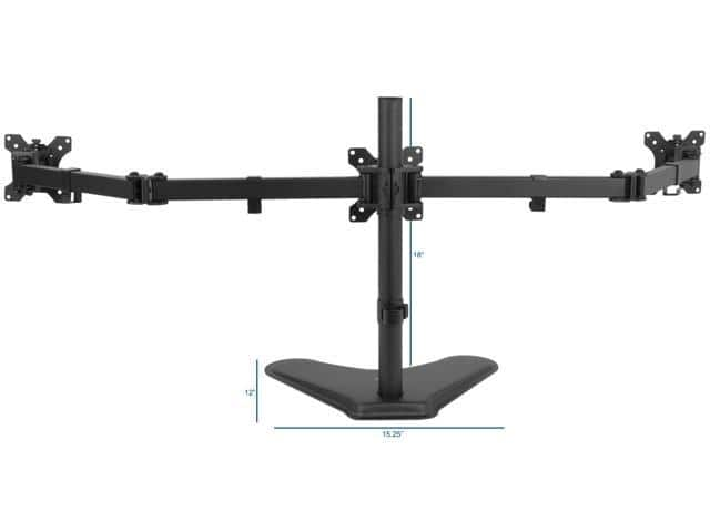 VIVO Triple Monitor Mount Articulating Monitor Stand $40@NF