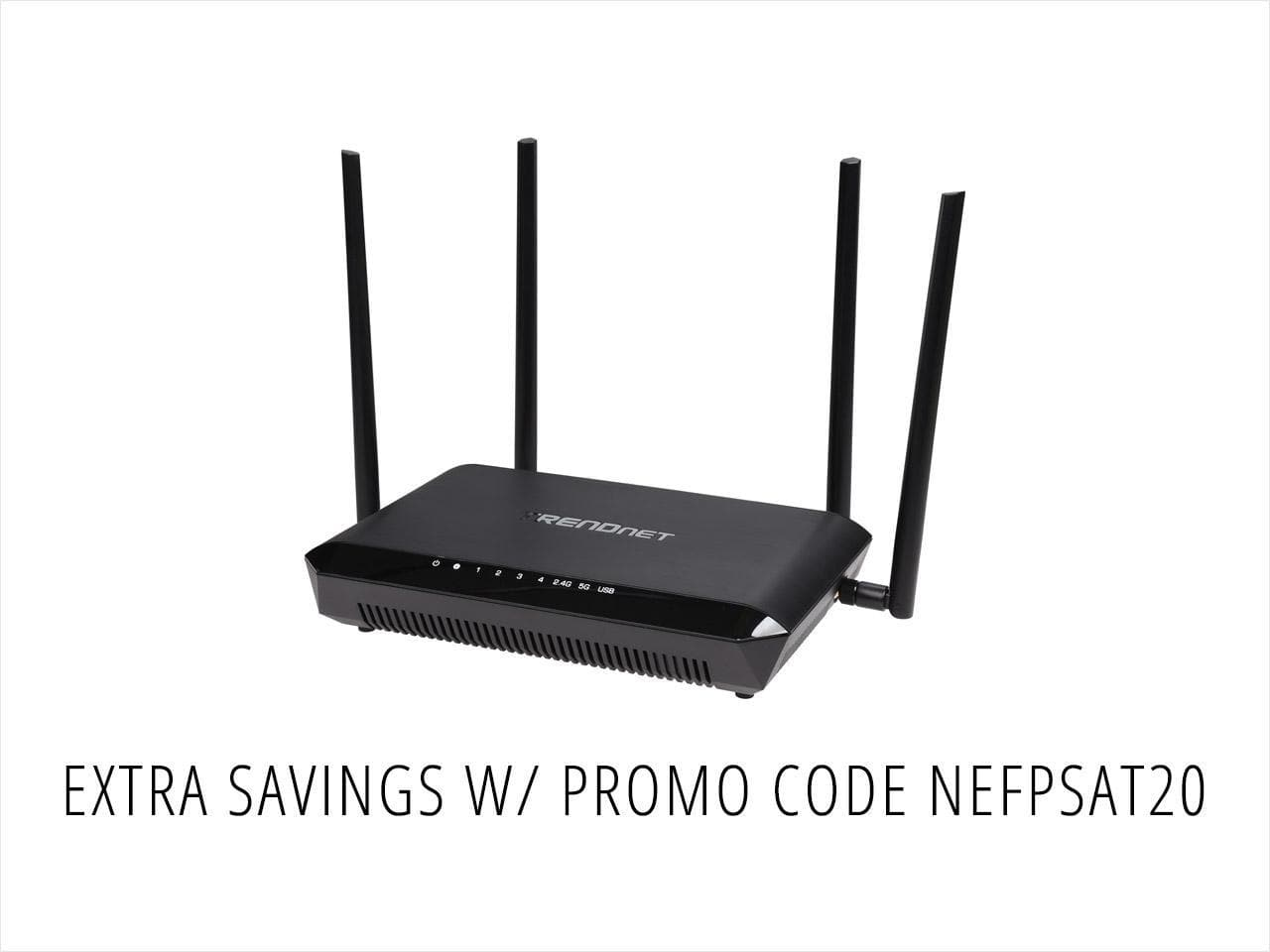 TRENDnet TEW-827DRU AC2600 Dual Band StreamBoost MU-MIMO Router $90AC@NF