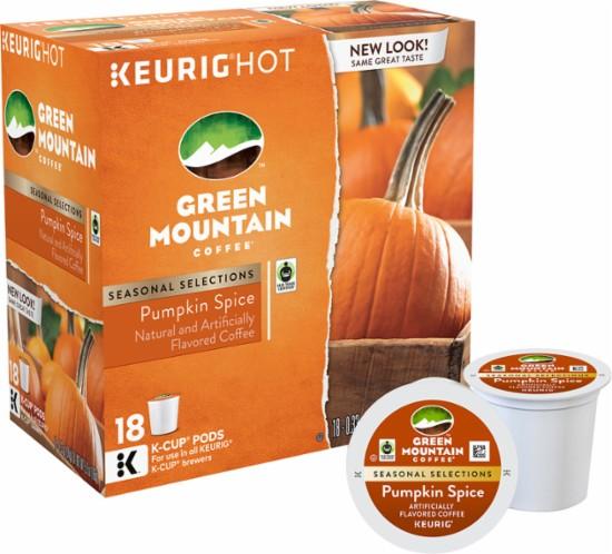 Keurig - Green Mountain Pumpkin Spice K-Cup® Pods (18-Pack) $6.49@BestBuy