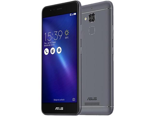 """Asus ZenFone 3 MAX ZC520TL 16GB 4G LTE Unlocked Cell Phone 5.2"""" 2GB RAM Gray *RFB* (+Krazilla Kzh Black headphones) $72AR@NF"""