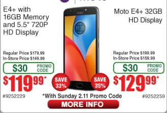 32GB Motorola Moto E4+ Smartphone $130AC @Frys (starts 2/11)
