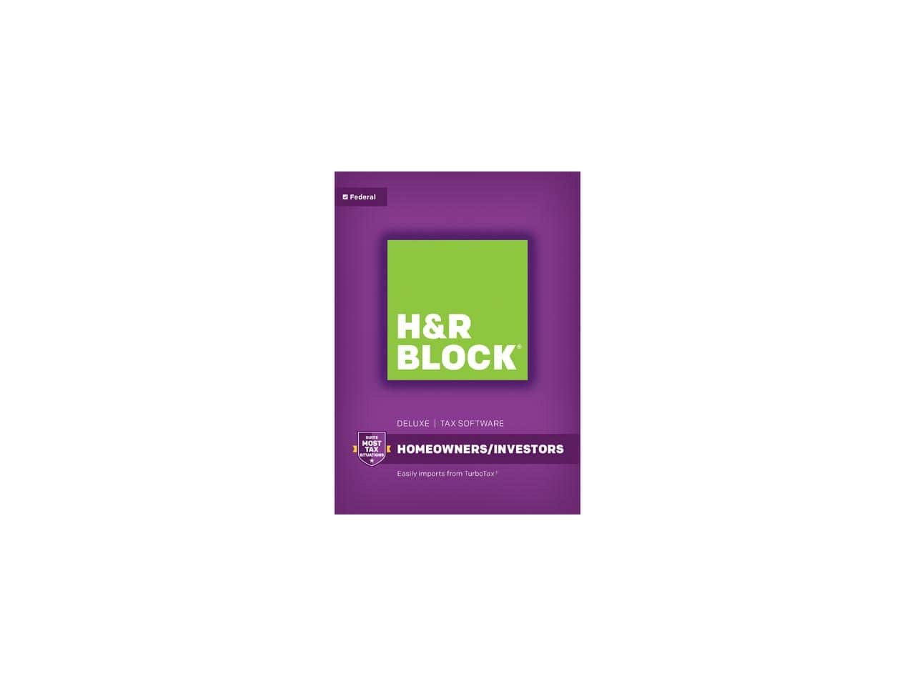 H&R Block Tax Software Deluxe 2017 - Mac|Windows + ($10GC)  $20@BestBuy