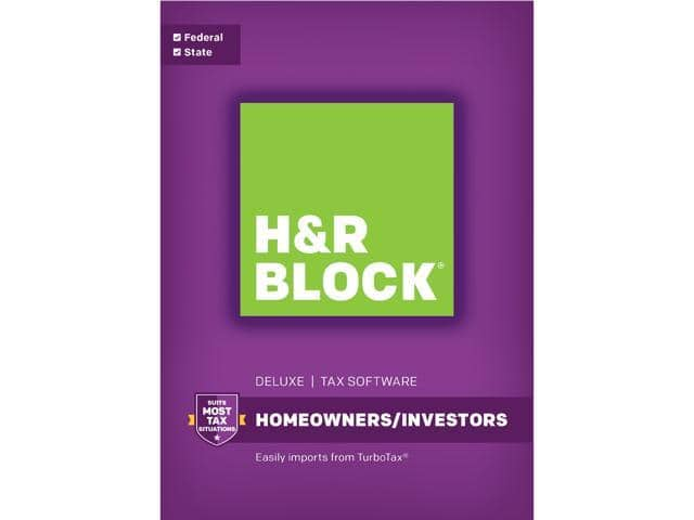 H&R Block Tax Software (50% off +$15GC)@Newegg Deluxe 2017 $17.49AC; Deluxe + State 2017  $22.49AC and more