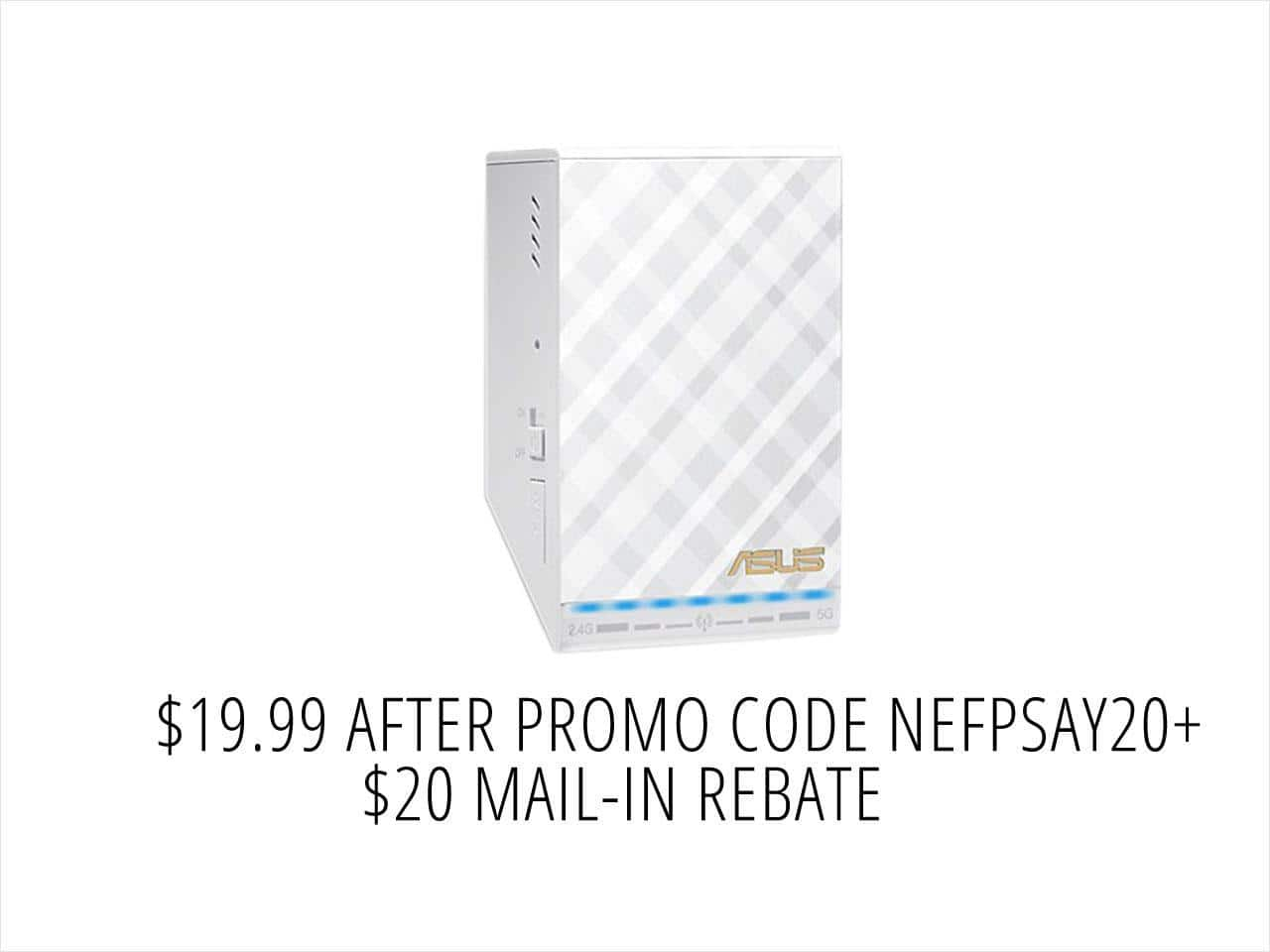 ASUS RP-AC52 AC750 Repeater / Access Point / Media Bridge $20AR @NF