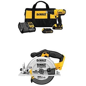 Dewalt DCD771C2 20V MAX Cordless Lithium-Ion 1/2 inch Compact Drill Driver Kit with DCS391B 20-Volt MAX Li-Ion Circular Saw $138@Amazon