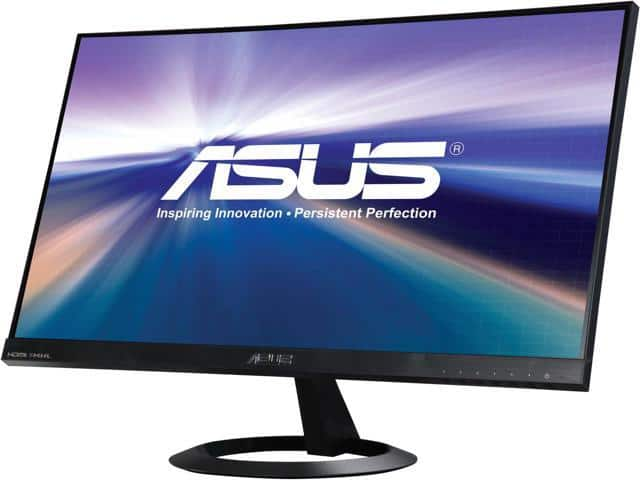 "ASUS VX24AH Black 23.8"" WQHD IPS Frameless LED Monitor $210AC  @Newegg"