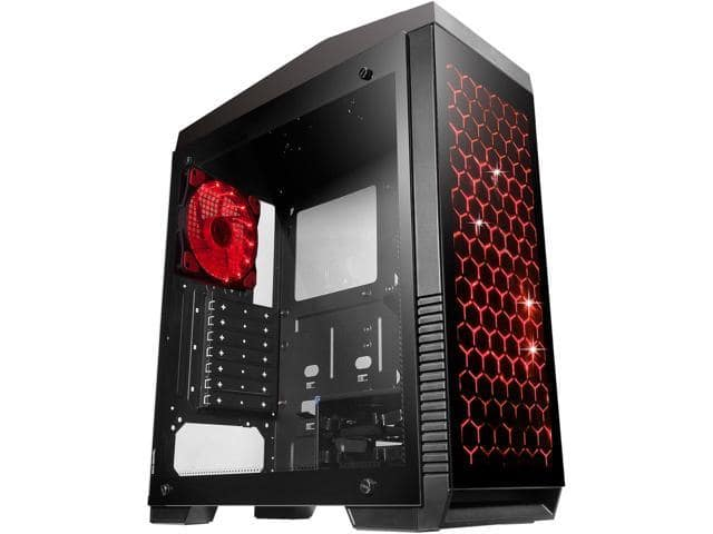 DIYPC DIY-G5-BK Black Steel Tempered Glass Mid Tower Gaming Case $25AR