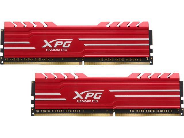 16GB (2 x 8) ADATA XPG GAMMIX D10 288-Pin DDR4 3000 Desktop SDRAM Memory AX4U300038G16-DRG $165AC