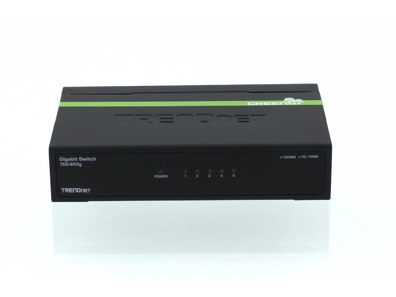 TRENDnet TEG-S50G 5-Port Gigabit GREENnet Switch, Lifetime Wty $13AC @Newegg