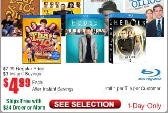 That '70s Show: Season 1 or (Blu-ray)  $5@Frys House Season Six or Seven; the Office Season 5 and more