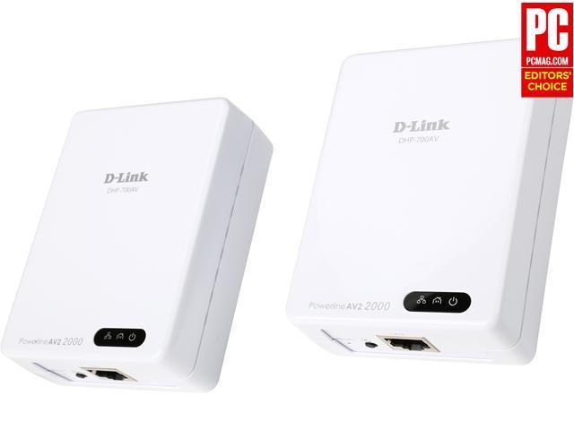 D-Link DHP-701AV HomePlug AV2 AV2000 MIMO Gigabit Powerline Starter Kit $65AR @Newegg