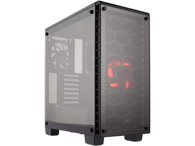 Corsair Crystal Series 460X - Tempered Glass, Compact ATX Mid-Tower Case $70AR