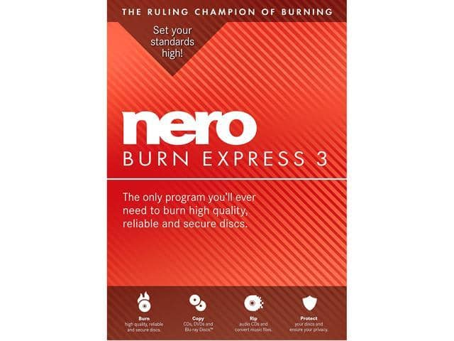 Nero Burn Express 3 Free after $30 Rebate (+H&R Block Tax Deluxe and State 2017) @Newegg