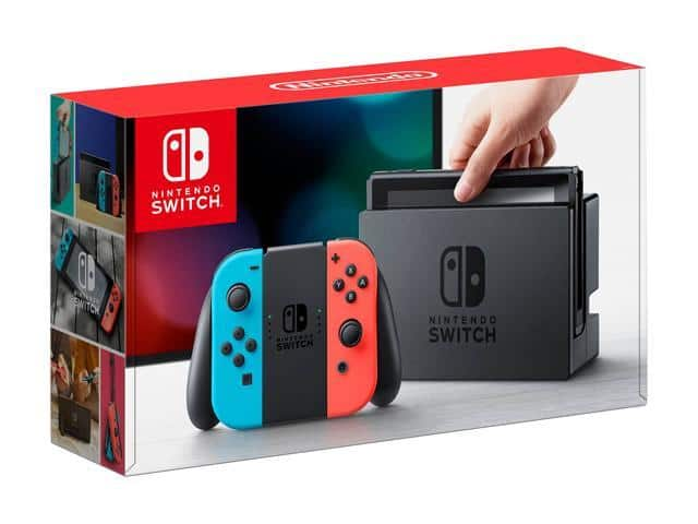 Nintendo Switch Console w/ Neon Blue and Red Joy-Con $280AC@Newegg