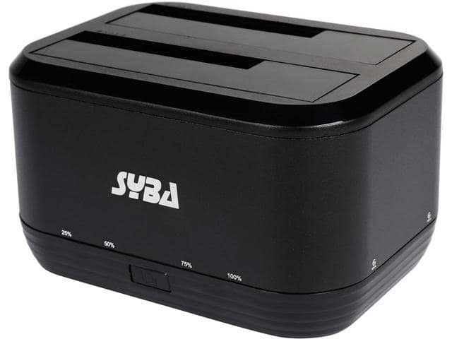 Syba SY-ENC50091 USB 3.0 Dual Bay SATA HDD Docking Station  $9AR@Newegg