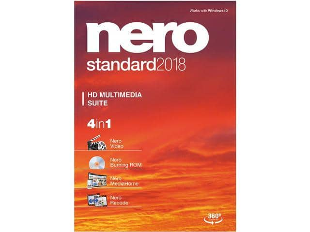 Nero Standard 2018 (+ H&R Block Tax Deluxe and State 2017) Free after $40 Rebate