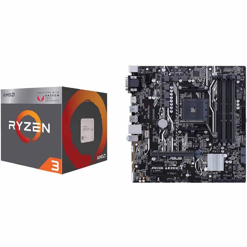 AMD Ryzen 3 2200G Processor and Asus A320M-A MATX