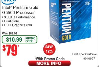 Intel Pentium G5500 Processor $79AC@Frys