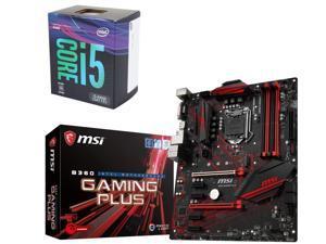Intel Core i5-8400 Desktop Processor and MSI B360 GAMING PLUS LGA 1151 Motherboard $255 AR @Newegg