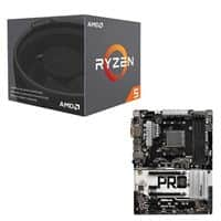 AMD Ryzen 5 2600 Processor with Wraith Stealth Cooler + ASRock AB350 Pro4 CPU/Motherboard Bundle $220 AR @Microcenter (pickup)