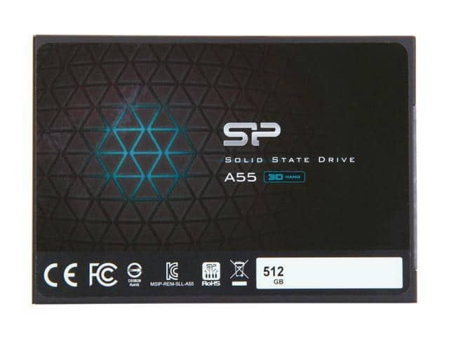 """512GB Silicon Power A55 3D NAND 2.5"""" SSD $110 @Newegg"""