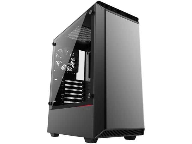 Phanteks Eclipse P300 PH-EC300PTG_BK Black Steel Chassis, Tempered Glass EAXT Mid Tower Case $50 AR@Newegg