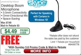 Inland Desktop Boom Mic, ProHT Laptop Sleeve and PC Chat Headset Free after Rebate (starts 5/6)