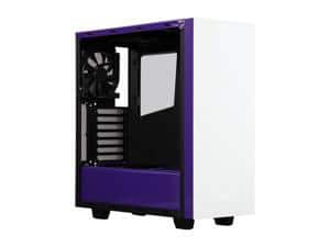 NZXT S340 Mid Tower Case Matte White/Purple Steel or Glossy Black $50 AR @Newegg