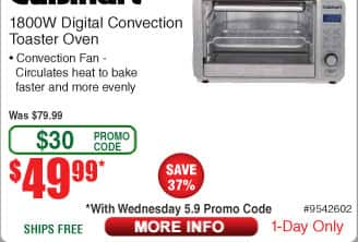 Cuisinart 1800W Digital Convection Toaster Oven $50 AC @Frys
