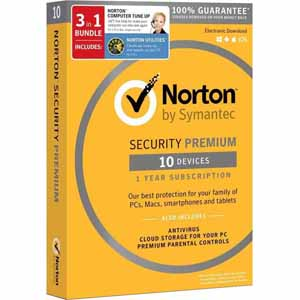 Norton Security Premium (10 Devices) + Norton Utilities (3 PCs) + Norton Computer Tune-Up Bundle Free after $65 Rebate @Frys