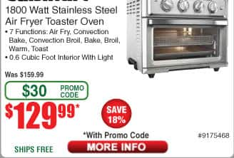Cuisinart TOA-60 Convection/ Air Fryer Toaster Oven $130 AC @Frys (starts 5/13)