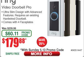 Ring Video DoorBell Pro $179.88 AC @Frys