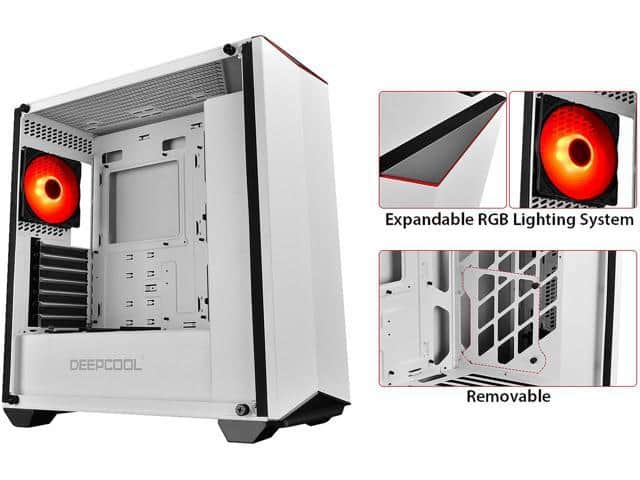Deepcool EARLKASE RGB WH White Mid Tower Gaming Case $45 AR @Newegg